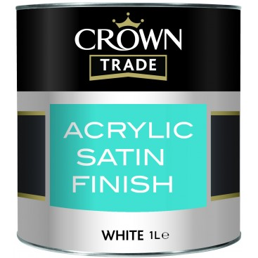 Peinture acrylique brillante Crown Satin Finish