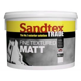 Peinture blanche texturée pour murs extérieurs 10 L