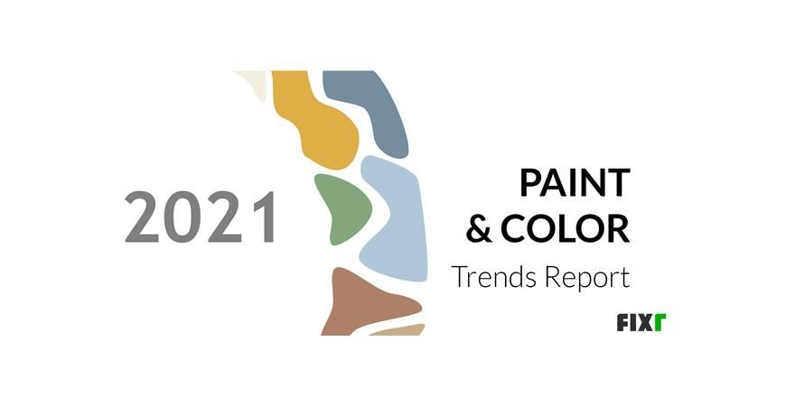 Tendances en matière de couleurs de peintures en 2021